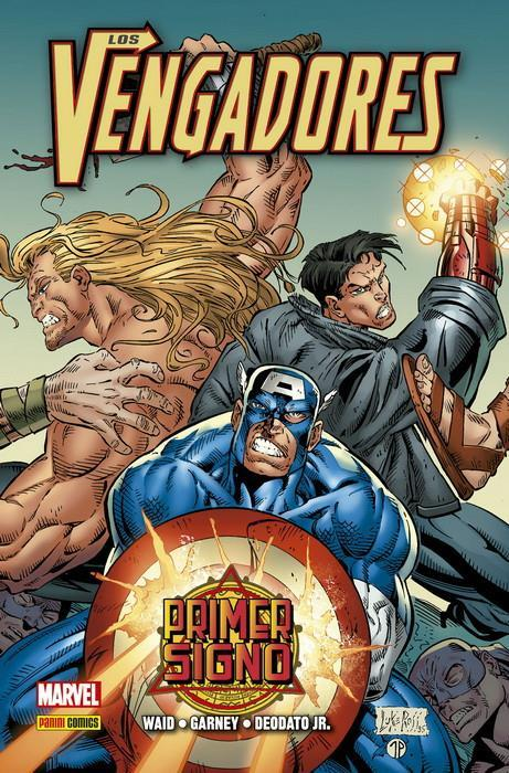 100% Marvel HC. Los Vengadores: Primer Signo | N0320-PAN01 | Mark Waid, Ron Garney, Mike Deodato, William Messner-Loebs | Terra de Còmic - Tu tienda de cómics online especializada en cómics, manga y merchandising