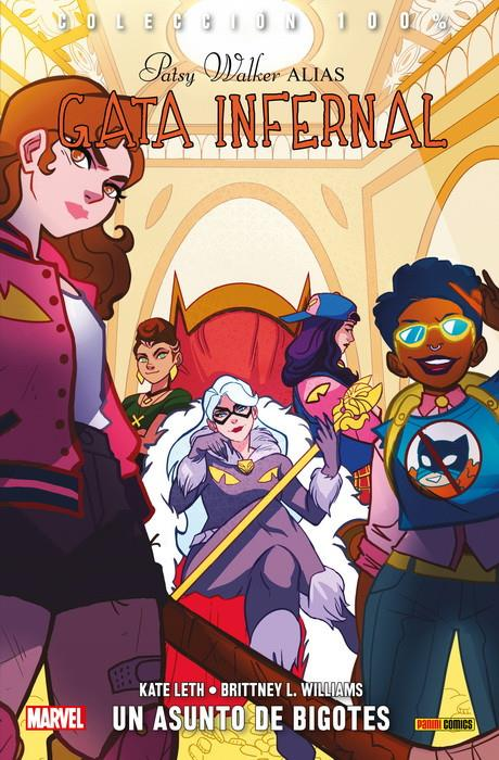 100% Marvel. Patsy Walker alias Gata Infernal 3 | N0218-PAN05 | Kate Leth, Brittney Williams | Terra de Còmic - Tu tienda de cómics online especializada en cómics, manga y merchandising